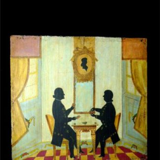 684. French Naive Silhouette painting