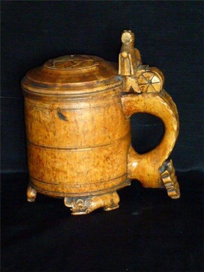 18th century birch burl Norwegian tankard.